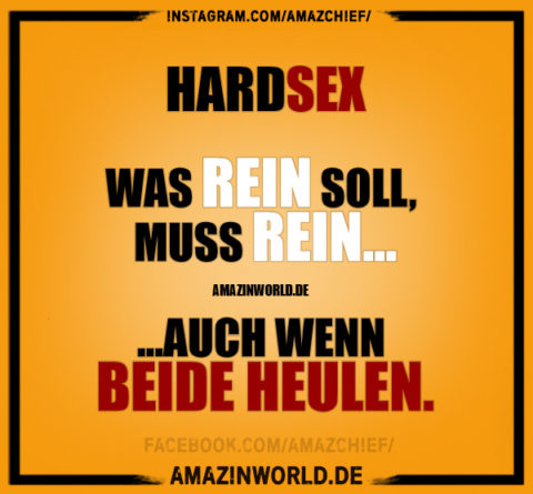 Hardsex: Was rein soll, muss rein, auch wenn beide heulen.