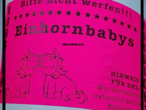 Bitte nicht werfen! Einhornbabys
