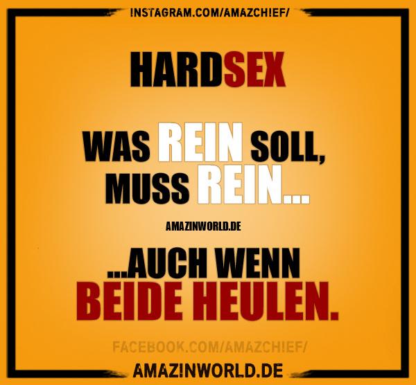 Hardsex: Was rein muss, muss rein, auch wenn beide heulen.